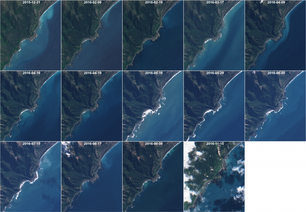 Selection of clear-sky Sentinel-2A images