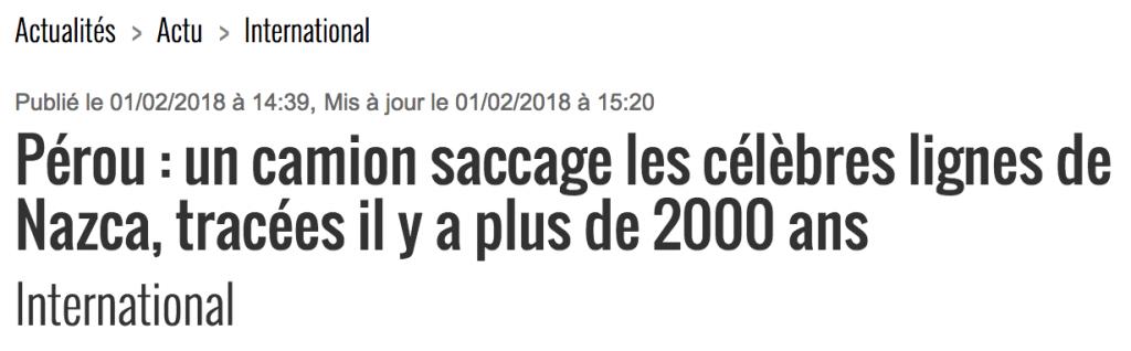 La Dépêche 01/02/2018