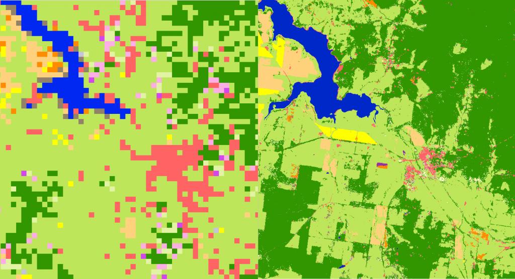 MODIS vs Sentinel LC