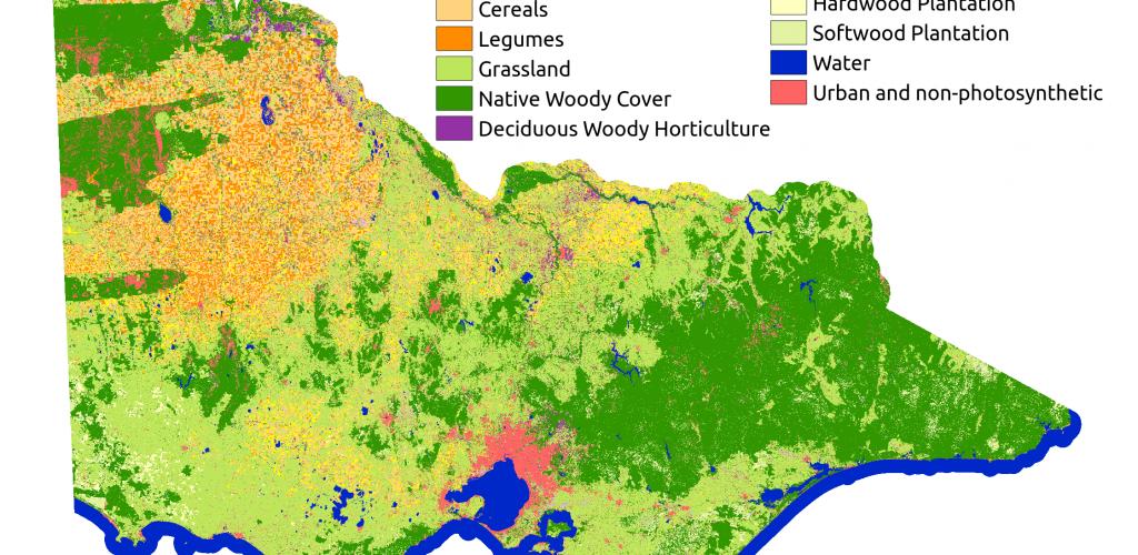 Land cover map of Victoria, Australia